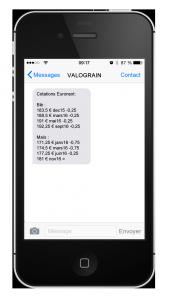 offre sms cotasions euronext